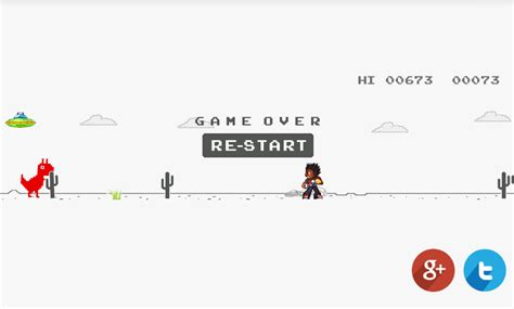 Dinosaur Game Where You Jump Over Cactuses | Gameswalls
