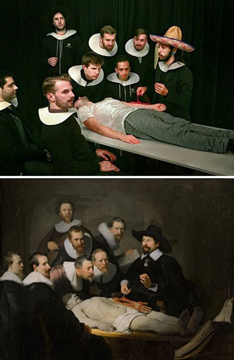 Bored Coworkers Recreate Classic Paintings Using Office