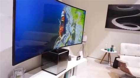 Samsung S9W 82-inches 21:9 Curved UHD TV - YouTube