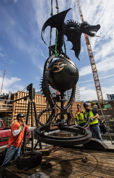 Here be dragons: Creature lands at Seattle building site