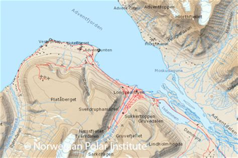 Digital Svalbard map (Spitsbergen) freely available from 2015