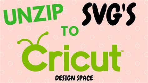 How to unzip an SVG file and import into Cricut Design
