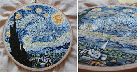 I Recreated Van Gogh's 'Starry Night' Using Only Needle