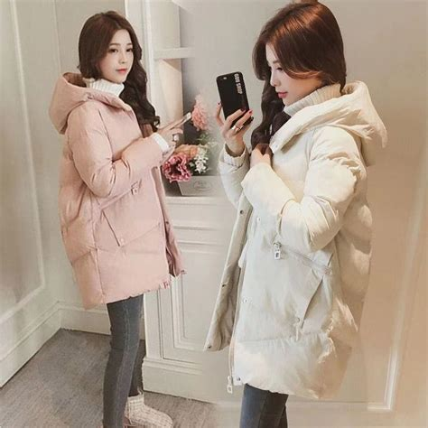 thick warm long hooded parkas snow coats RK   Womens
