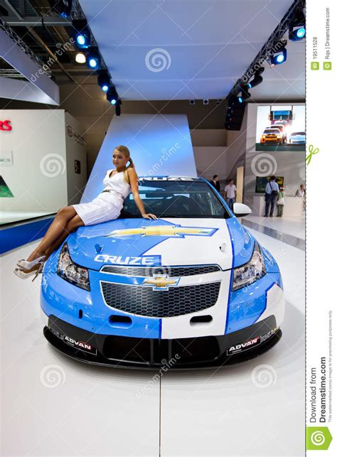 White And Blue Sport Car Chevrolet Cruze Editorial Stock