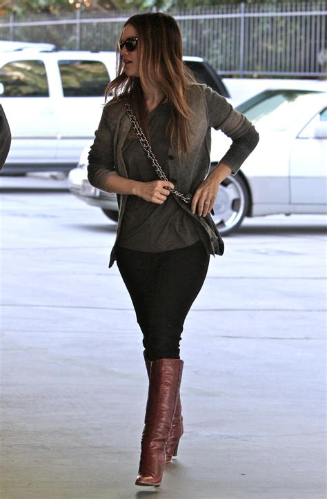 Photos of Rachel Bilson Wearing Red Boots and Running