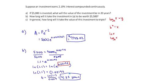 Continuously Compounding Interest Example (MTH 145 Section