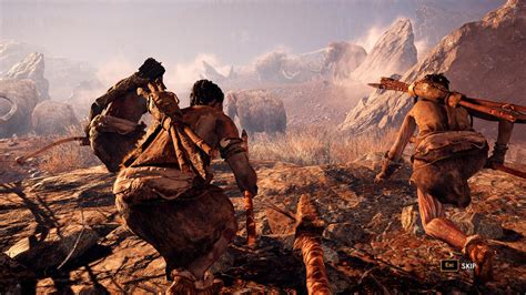 Wallpaper Far Cry Primal, mammoths, Best Game, PC, PS4